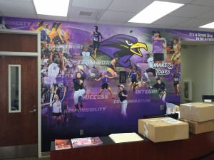 Project Spotlight University Of Montevallo Baseball Locker Room Wallpaper